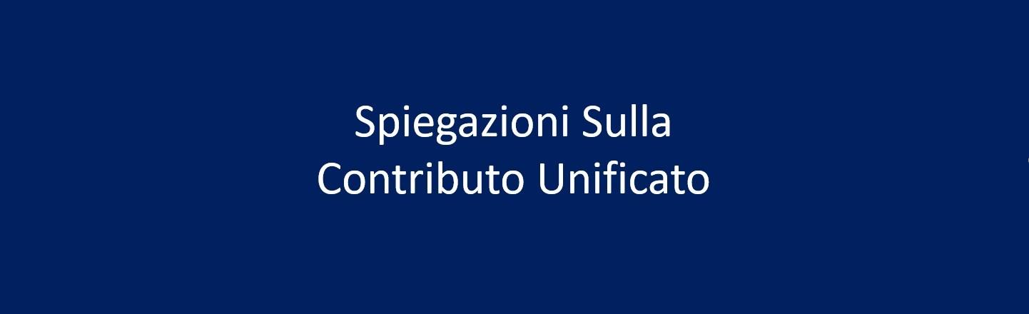 Spiegazioni sulla contributo unificato