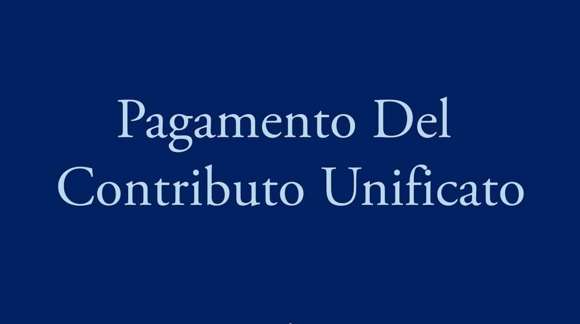 pagamento contributo unificato